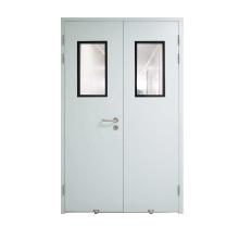 2020 hot sale soundproof hospital room door double leaf active double steel door
