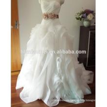 Amazing princess ball gown modern bridal strapless wedding dress yiwu