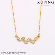 Wholesale new type top sale 18k gold newest flower design gold necklace