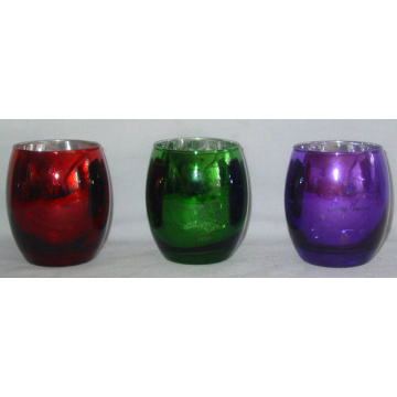Tealight or Votive Glass Candle Holder for Christmas (DRL06169)