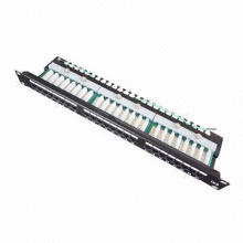 Cat5e UTP Wired 24-Port Patch Panel with 1.5A Current Rating