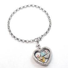 Bracelet chaîne en argent avec perle, fantaisie