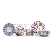 3pcs Porcelain Breakfast Tea Set