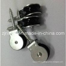 Poulie avec nylon noir simple 25 mm avec vis