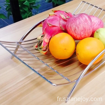 Vegetable Basket Creative Countertop Iron Plated Vegetable Mesh Metal Bowl Kitchen Storage Wire Fruit Basket