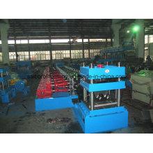 Máquina formadora de rollo de riel de guardia con eje de caja de cambios de dos capas
