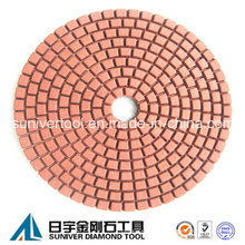 Rote Farbe Standard Nassgebrauch Diamond Polierpad