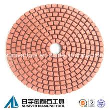 Красный цвет стандартного использования мокрых алмазов Pad