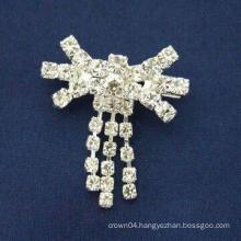 wholesale hot sale fashion simple design rhinestone brooches