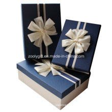 Quality Textured Art Paper Gift Boxes with Ribbon Decoration