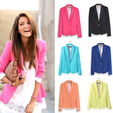 Hight Quality Slimming Leisure Outwear Women Suits (MU6626-1)