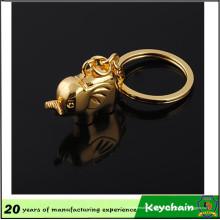 Llavero de la forma del elefante del color oro 2016 del nuevo producto