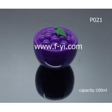 100ml Frasco cosmético de encargo de la forma de la fruta de la uva