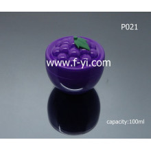 100ml Custom Lovely Grape Fruit Shape Cosmetic Jar
