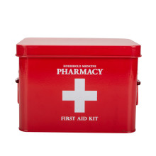 Red Powder Coated First Aid Box