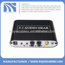 5.1 Channel AC-3/DTS Digital Audio Converter Stereo Sound Audio Decoder