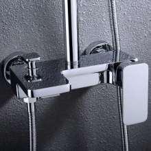 Juego de cabezales de ducha tipo lluvia montados en la pared para baño de lujo recién llegado con mezclador de ducha de latón