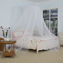 Children Circular Bed Canopy With Decorative Beads