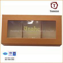 Элегантная коробка подарка шоколада с окном PVC