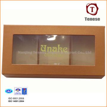 Boîte cadeau élégante au chocolat avec fenêtre en PVC