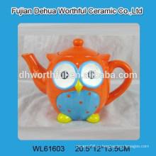 Прекрасный сова формы керамических животных чайник
