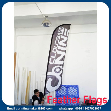 Iklan Outdoor Feather Flags Custom Double Sided