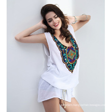 Large Size New Style Women T-shit Dress Colorful Printed Beauty Body Clothes