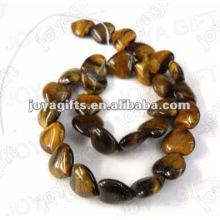 Perlas en forma de corazón de piedra tigereye