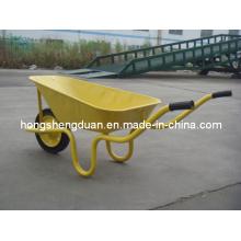 Gelbe Heiß-Verkauf Schubkarre haben 60L Kapazität