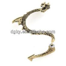 Brazalete de bronce barato del pendiente de clip del oído del dragón de la vendimia de la fábrica