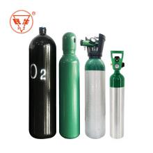Cilindro de gás portátil de oxigênio 10L de aço vazio para uso médico