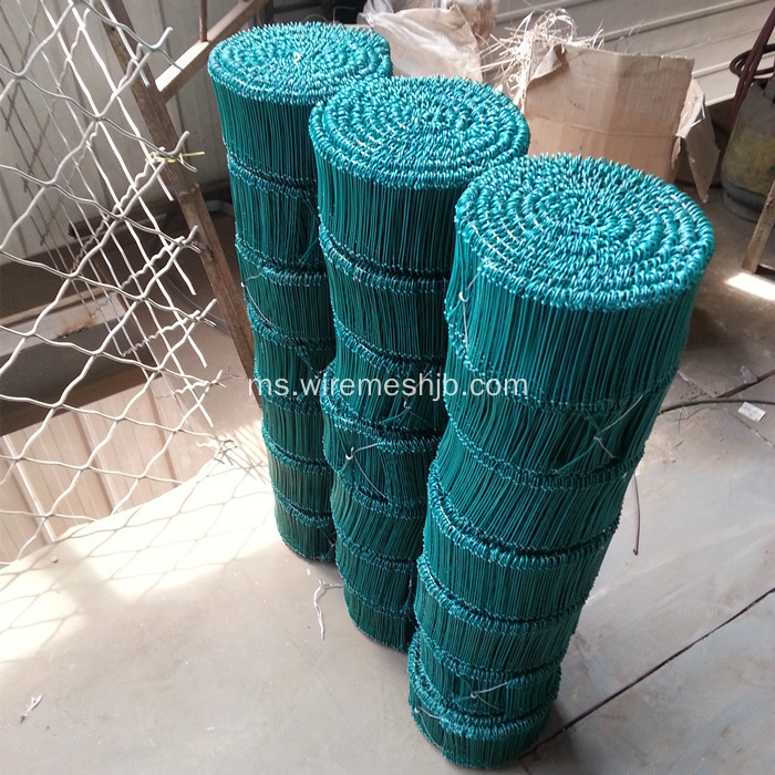 PVC bersalut Double Loops Binding Wire