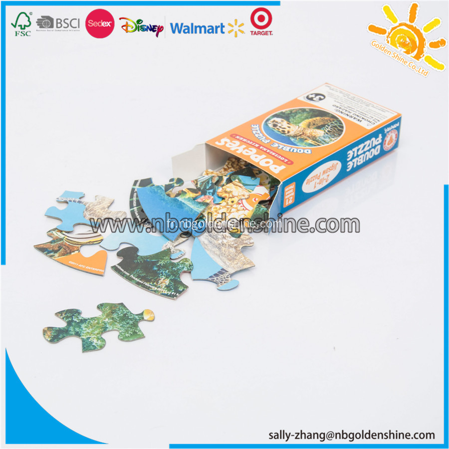 Turtle Jinsaw Paper Puzzle
