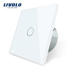 Mur intelligent Smart Touch en verre cristal blanc de luxe Livolo EU, commutateur 1 voie, 1 voie, VL- C701-11 / 12/13/15