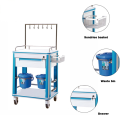 China Manufacturer Cheap ABS Hospital Emergency Infusion Trolley Medical Syringe Treatment Cart Price