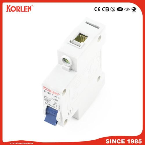 6ka Mini Circuit Breaker με CE KNB1-63 3P