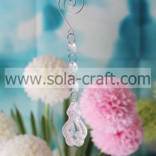 Glass Octagonal Beads Prisms Crystal Pendant Chandelier Clear Wedding Tree Accessories