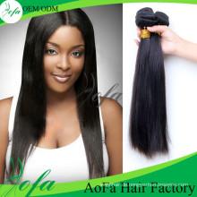 7A Klasse Brasilianische Unverarbeitete Menschenhaar Remy Reine Haareinschlagfaden