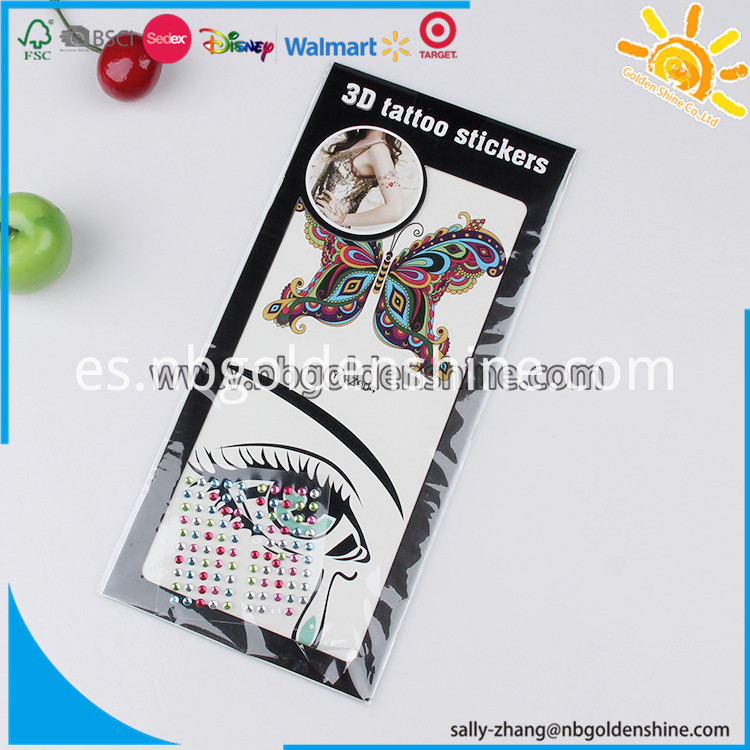 Tattoo With Gem Stickers 7