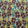 Mehrfarbiger Nähfaden Blumenstickerei Stoff