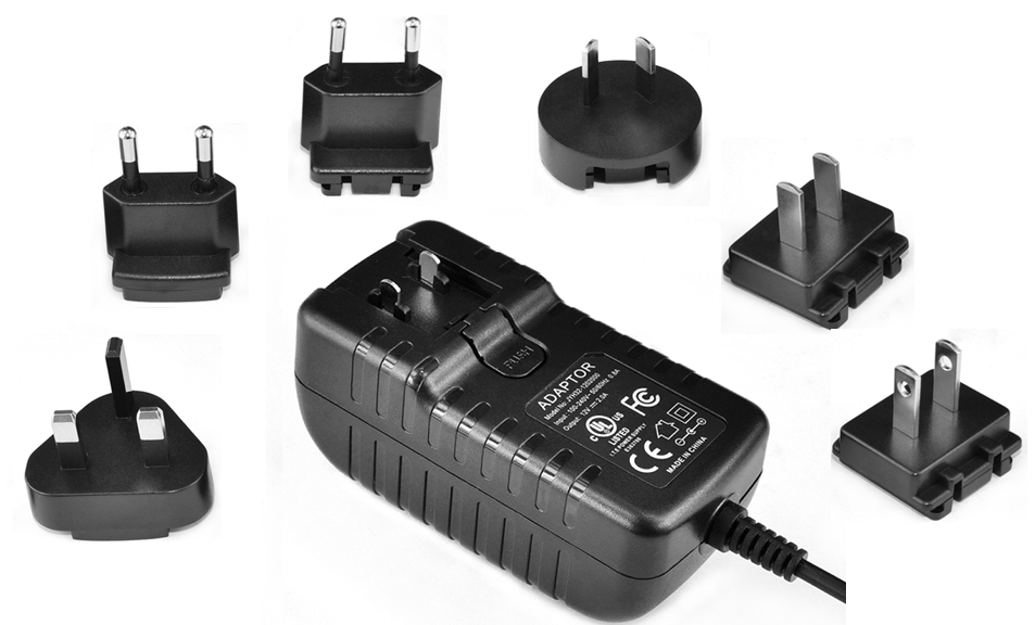 36W Interchangeable Plug Wall Mount Charger