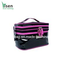 Saco de patente preto PVC cosméticos de alta qualidade (8334-YSCOS00)
