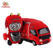 YK ICTI fábrica mejores juguetes blandos pequeño camión de felpa rojo personalizado juguetes para niños