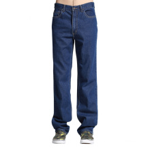 Venta al por mayor Basic Mens Loose Jogger Jeans Big Size Jean