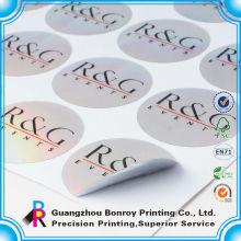 Etiqueta adhesiva de la etiqueta decorativa impermeable reutilizable