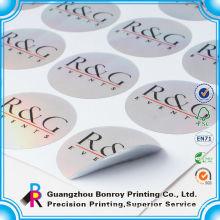 Reusable waterproof decorative tag brand adhesive label
