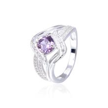 925 sterling silver purple gemstone zircon ring personality winding ladies ring