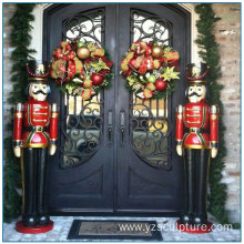 Holiday Debroation outdoor Fiberglass Nutcracker Statue