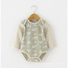 Jacquard Organic Cotton Baby Romper para el verano