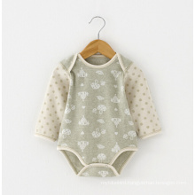 Jacquard Organic Cotton Baby Romper for Summer